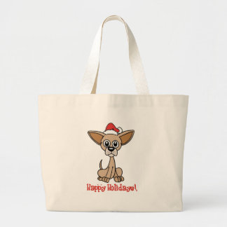 Christmas Chihuahua Large Tote Bag