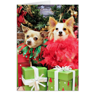 Christmas - Chihuahua - Miles and Ivy Greeting Cards