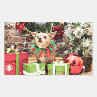 Christmas - Chihuahua - Miles Sticker