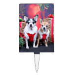 Christmas - Chihuahua - Moo Moo and Ginger Cake Toppers