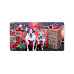 Christmas - Chihuahua - Moo Moo and Ginger Personalized Address Label