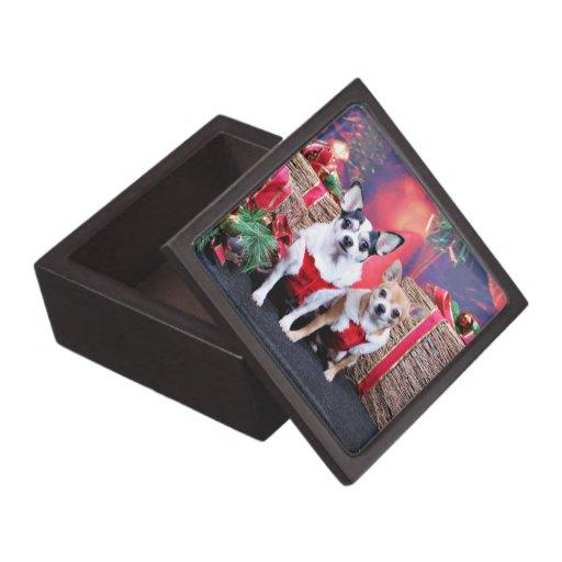 Christmas - Chihuahua - Moo Moo and Ginger Premium Jewelry Box