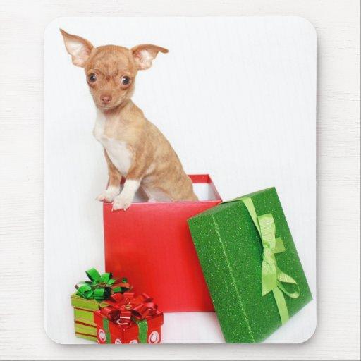 Christmas Chihuahua Mouse Pad
