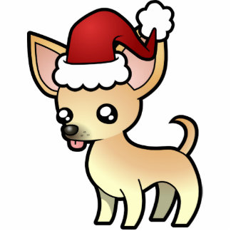 Christmas Chihuahua Ornament (smooth coat)