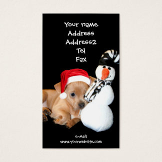 Christmas chihuahua puppy business cards