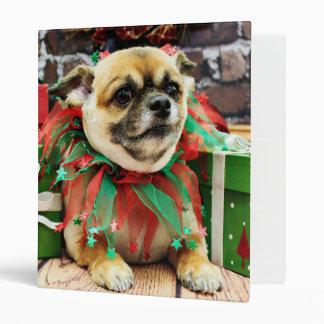 Christmas - Chihuahua - Spike 3 Ring Binder