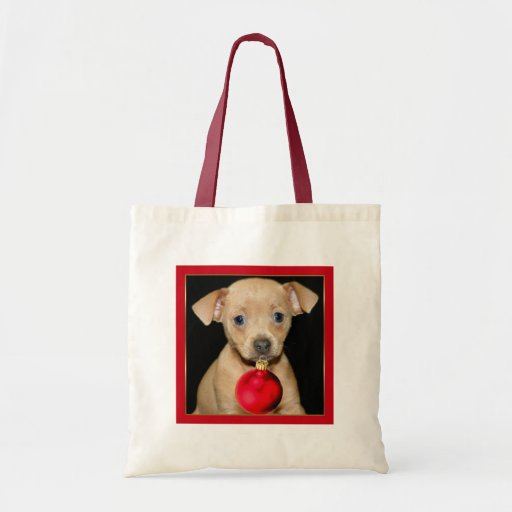 Christmas Chihuahua tote bag