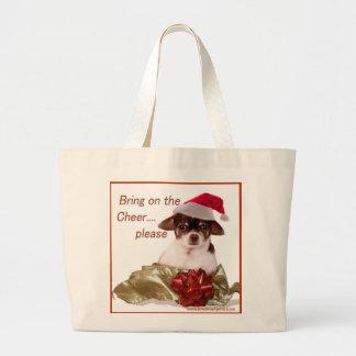 Christmas Chihuahua Tote Jumbo Tote Bag