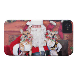 Christmas - Chihuahua X - Daisy and Rocky iPhone 4 Cover