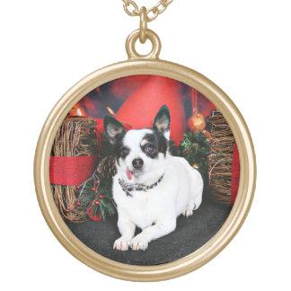 Christmas - Chihuahua X - Stella Pendant