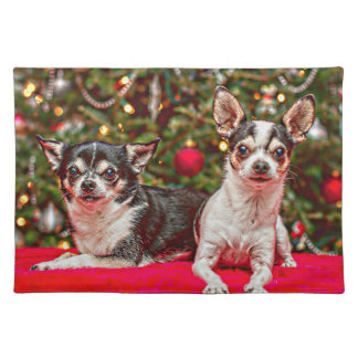 Christmas Chihuahua's Placemat