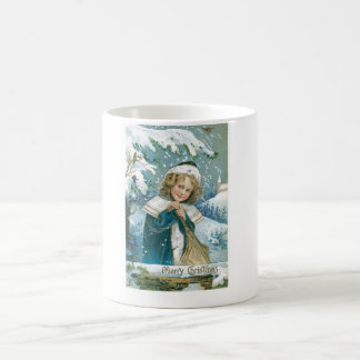 Christmas Child in the Snow Coffee Mug
