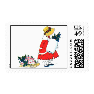 Christmas Child with Gifts Stamps