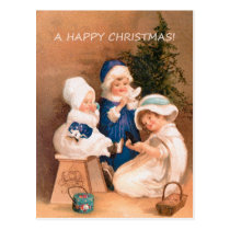 Christmas children postcard