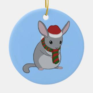 Christmas Chinchilla Ornament
