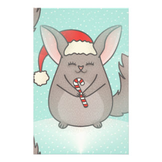 christmas chinchillas stationery