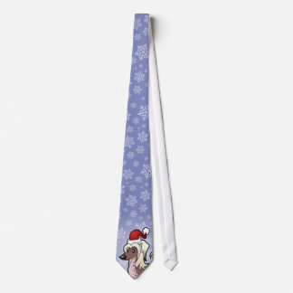 Christmas Chinese Crested (hairless) Tie