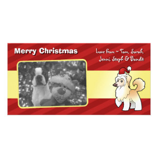Christmas Chinese Crested (powderpuff) Card