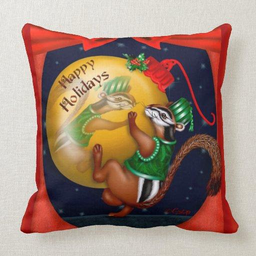 Throw Pillows 20 X 20 : CHRISTMAS Chipmunk CARTOON THROW PILLOW 20 X 20 Zazzle