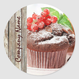 christmas chocolate cake bakery business classic round sticker