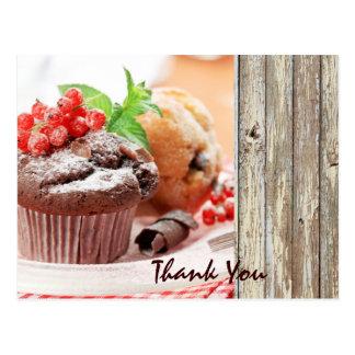 christmas chocolate cake bakery business postcard