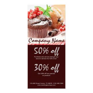 christmas chocolate cake bakery business rack card