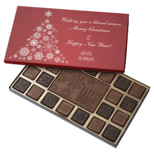 Christmas Chocolate Gift Box at Zazzle
