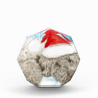 Christmas Chocolate Labradoodle Acrylic Award