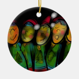 Christmas Choir Ceramic Ornament