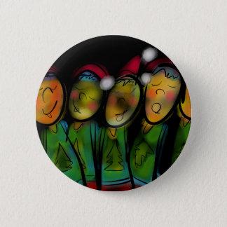 Christmas Choir Pinback Button
