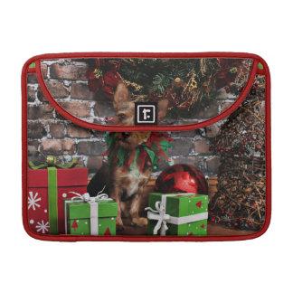 Christmas - Chorkie - Toby MacBook Pro Sleeves