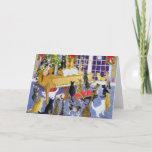 "Christmas Chorus Holiday Card<br><div class=""desc"">Christmas Chorus (acrylic on canvas)  Scott  Pat / Private Collection / Bridgeman Images Domestic Animals - pets Domestic Animals Mammals</div>"