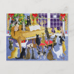"Christmas Chorus Holiday Postcard<br><div class=""desc"">Christmas Chorus (acrylic on canvas)  Scott  Pat / Private Collection / Bridgeman Images Domestic Animals - pets Domestic Animals Mammals</div>"