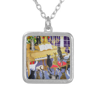 Christmas Chorus Silver Plated Necklace