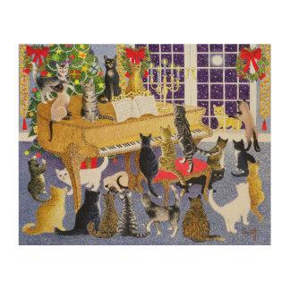 Christmas Chorus Wood Print