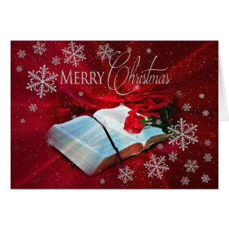 Christmas - Christian - Bible/ nowflakes Greetin Greeting Card