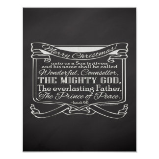 Christmas Christian Chalkboard Scripture Poster