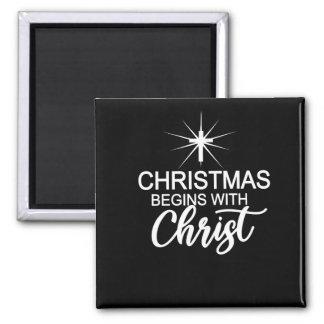 Christmas Christian Gift Christmas Begins With Magnet
