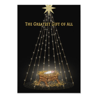 Christmas Christian Manger Greeting Card at Zazzle