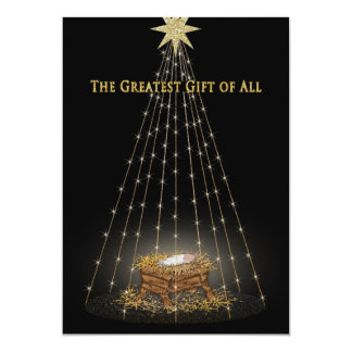 Christmas Christian Manger Greeting Card