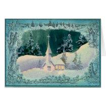 CHRISTMAS CHURCH by SHARON SHARPE Card
