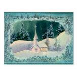 CHRISTMAS CHURCH by SHARON SHARPE Postcard