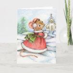 Christmas Church Mouse Card