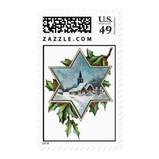 Christmas Church Star Stamps
