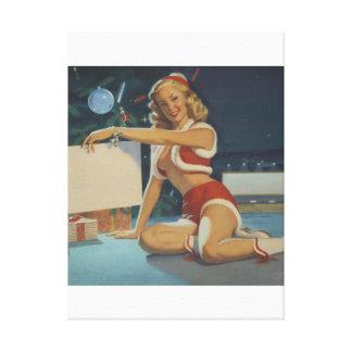 Christmas, circa 1950 Pin Up Art Canvas Print