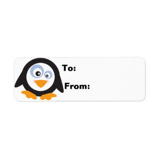 Christmas Circle of Penguins Gift Lables Label