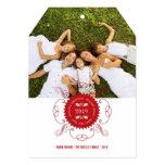 Christmas Circle Ornate Seal Holiday Greetings 5x7 Paper Invitation Card