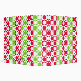 Christmas Circle Square Family Album 3 Ring Binders
