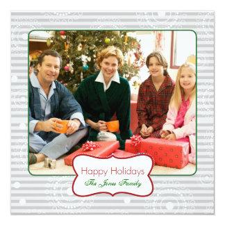 Christmas Circles - Red & Green Silver Card