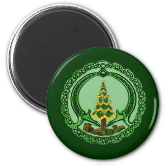 Christmas Claddagh 2 Inch Round Magnet